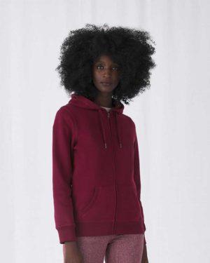 B&C | QUEEN Zipped Hood - Damen Kapuzen Sweatjacke