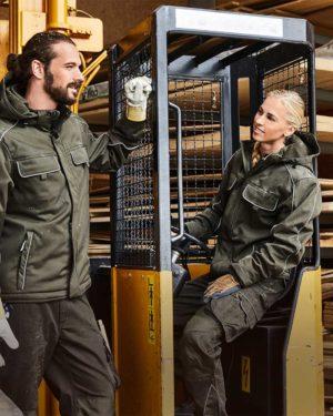 James & Nicholson | JN 886 - Workwear Softshell Padded Jacke